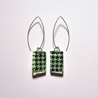 GREEN TEA HOUNDSTOOTH rectangle