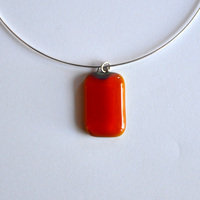 PAPAYA pendant with sterling silver neck wire