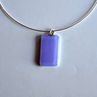 LAVENDER pendant with sterling silver neck wire