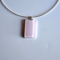 PETAL pendant with sterling silver neck wire