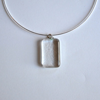 WATER pendant with sterling silver neck wire