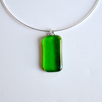 APPLETINI pendant with sterling silver neck wire