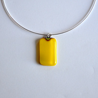 LEMON pendant with sterling silver neck wire